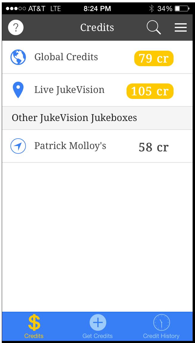 JukeVision App - Credits