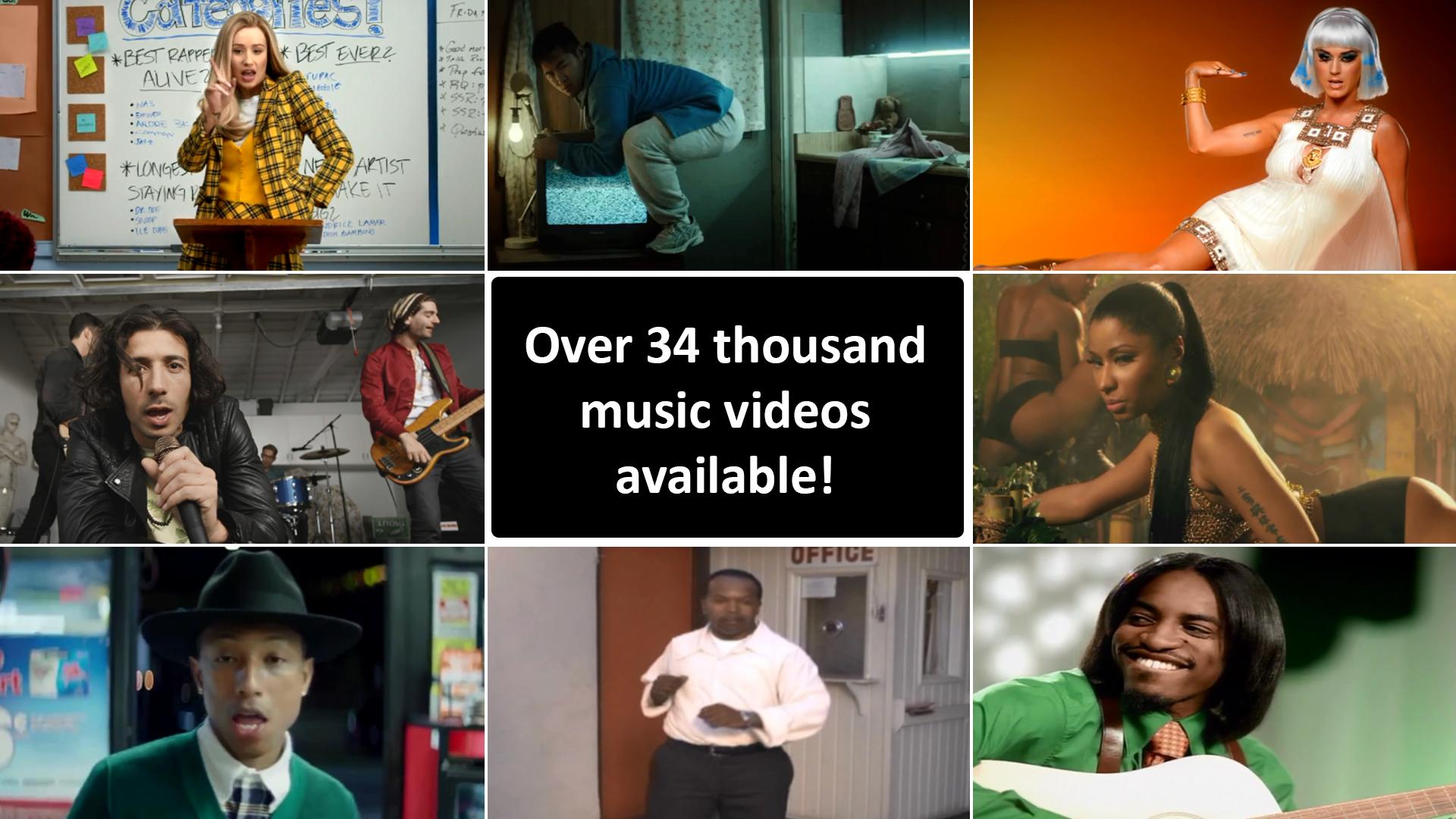 34k Music Videos